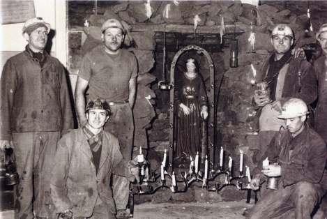 Sv. Barbora v bani.