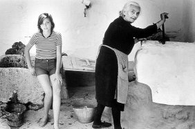 Silvia Garrido, daughter or Spanish emigrants in Munich, spending the summer with her grandma. La Mancha, 1970