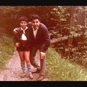 Carlos Iglesias with his father in Uzwil, 1965 Swiss