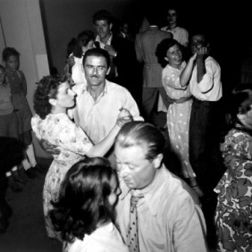 The Italian Women's Union of Zurich: immigrant couples dancing in the bar of the Casa d'Italia in Zurich, Switzerland, 1949
