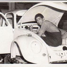 Gonario Ladu, at work. Wolfsburg 1963