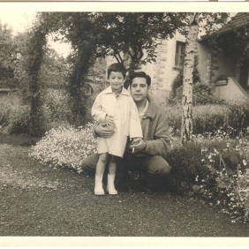 Carlos Iglesias with his father in Uzwil, 1961 Swiss
