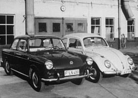 Two models produced by the Volkswagen's factory in Wolfsbug during the 60's