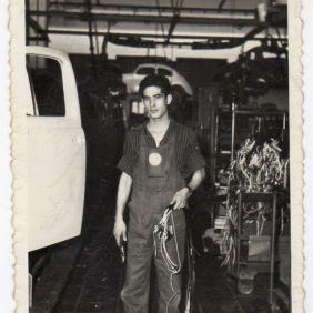 Mario Lladu, at work. Wolfsburg 1963