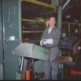 Matteo Guerra, at work. Wolfsburg 1964