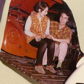 Salvatore Curto with her friend. Wolfsburg 1969