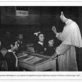 Peterborough. The nuns from Botticino (BS) teaching Italian in a mission in England. 1961. MBCA-Central Office for Library Heritage and Cultural Institutes, CSER, A suitcase full of America. Rome, The Hieroglyphics, 1992