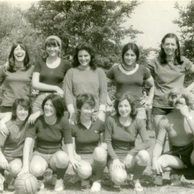 Football match during the party P.C.E in Granja. Founder and coach Manuel Ramirez. Brussels 1976