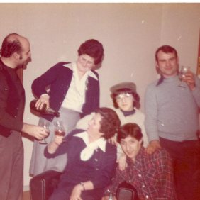 Friends of an emigrant family at Juaquin's house (he was from Asturias). Brussels 1979