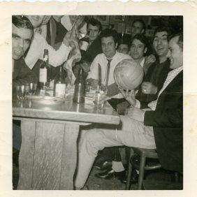 "Member of the football team of the club ""F. Garcia Lorca"". Limburg, Belgium 1964"