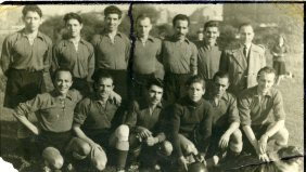 The first Spanish Civil War refugee football team at Club Federico Garcia Lorca in Brussels. 60's.