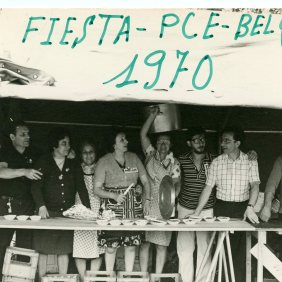 Party of the Communist faction PCE in Brussels, and selling ceramic 1970
