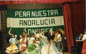 """Party at the association """"Arte y Cultura de Andalucia"""" in Brussels. 29.05.1983"""