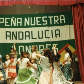 "Party at the association ""Arte y Cultura de Andalucia"" in Brussels. 29.05.1983"