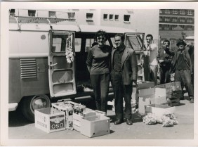 Fruit seller near Opel's residence. Nuremberg 1966-1967