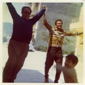 Elisabeth's father (left - Greece, 1973)