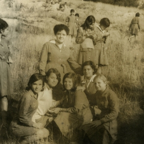 Elisabeth with some classmates (in Greece, mid-60s)
