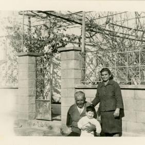 Xrissoula parents, with a nephew, Greece (1966)