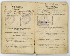 9Libro de familia de los padres de Emmanuel Zaragoza marido de Xrissoula emitido por la admnistración francesa en Orán