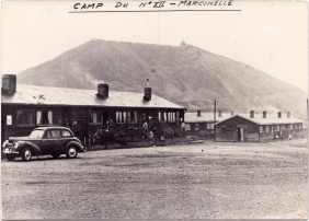 View of the barracks Marcinelle in the fifties. 1954-1956