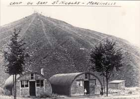 View of tin shacks in Marcinelle in the mid-fifties
