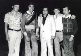 Portrait of a group of boxers including the respondent Mario Ferro and Nino Benvenuti in Brussels in the first half of the sixties