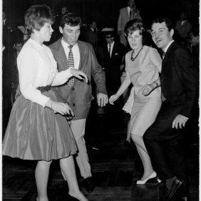 Renzo Zavagni and Velia Zavagni dancing to House of Italy. Zurich 1962