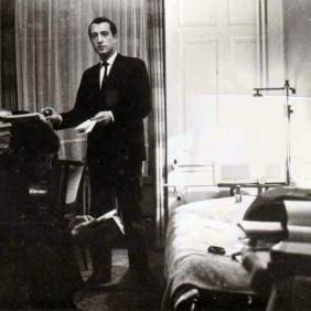 Leonardo Zanier in his apartment in Zurich.1960