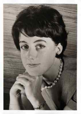 Studio portrait of his future wife of Amedeo Treu: Liselotte. Zurich 1962.10.17
