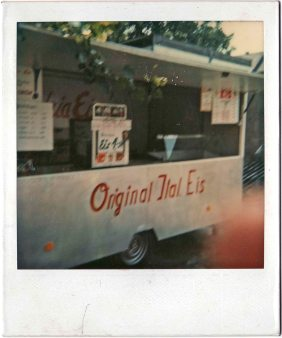 The van for the sale of ice cream. Herne 1981