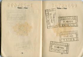 José passport ( visas 1980)