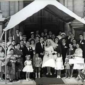 Edda Cirant and Joseph D'Amico with friends and family on your wedding day. London 1962