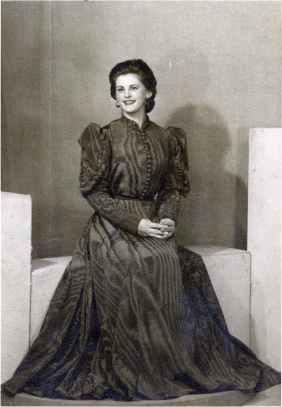 Portrait of Angelina Massera for her eighteenth birthday. London 1954