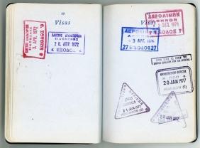 Viajes Francia-Grecia (visados de 1972 y 1977)