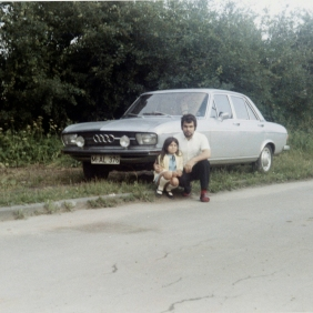 Santina Curcuruto. In the city of automobiles, we loved to have pictures taken in front of cars
